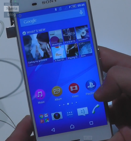 Sony Xperia z3 Running Android