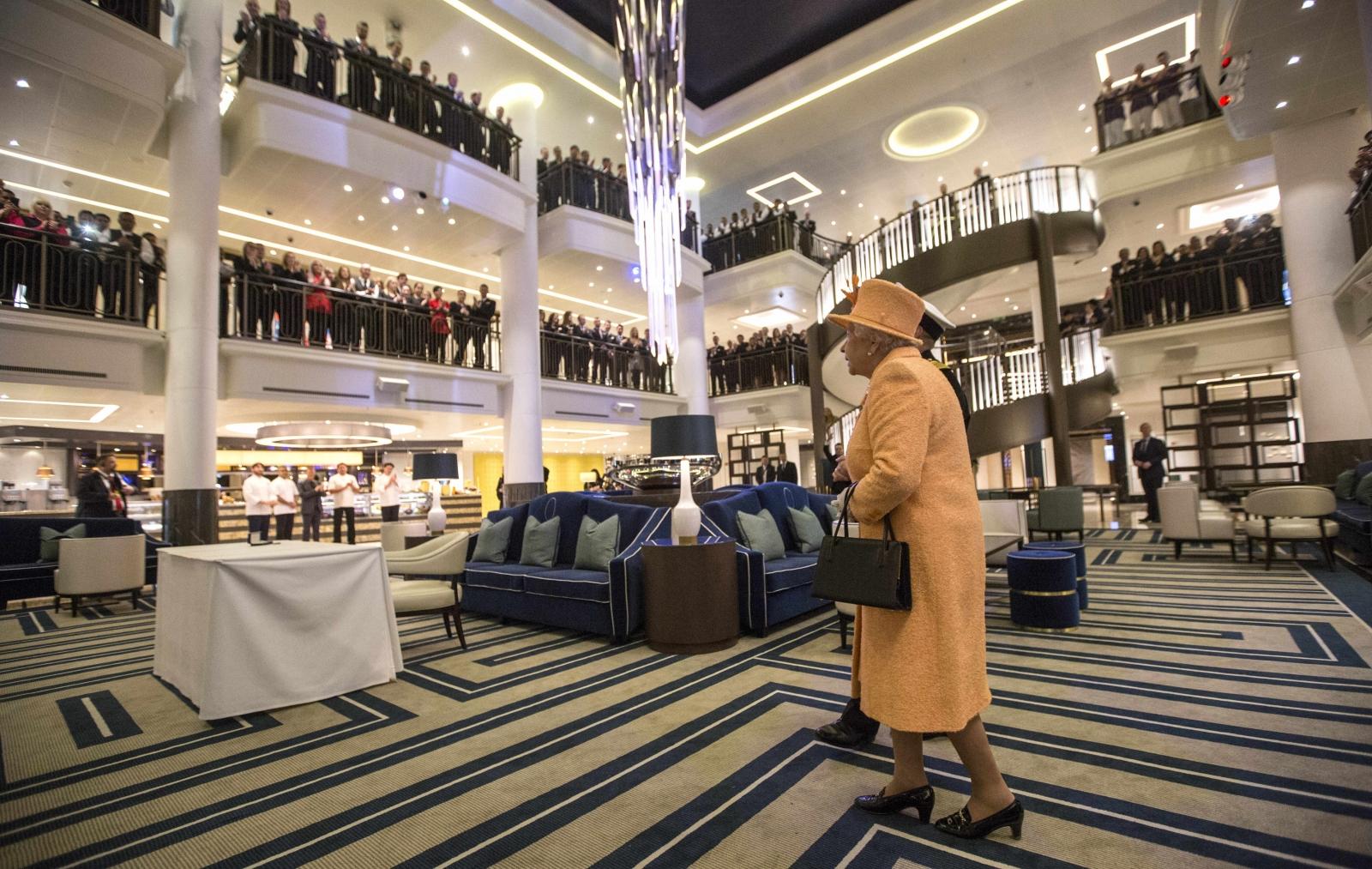 Cruise Ship Britannia Leaves Southampton On Maiden Voyage