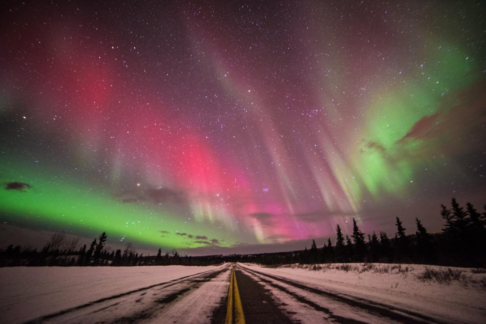 Aurora borealis photos of northern lights over alaska following
