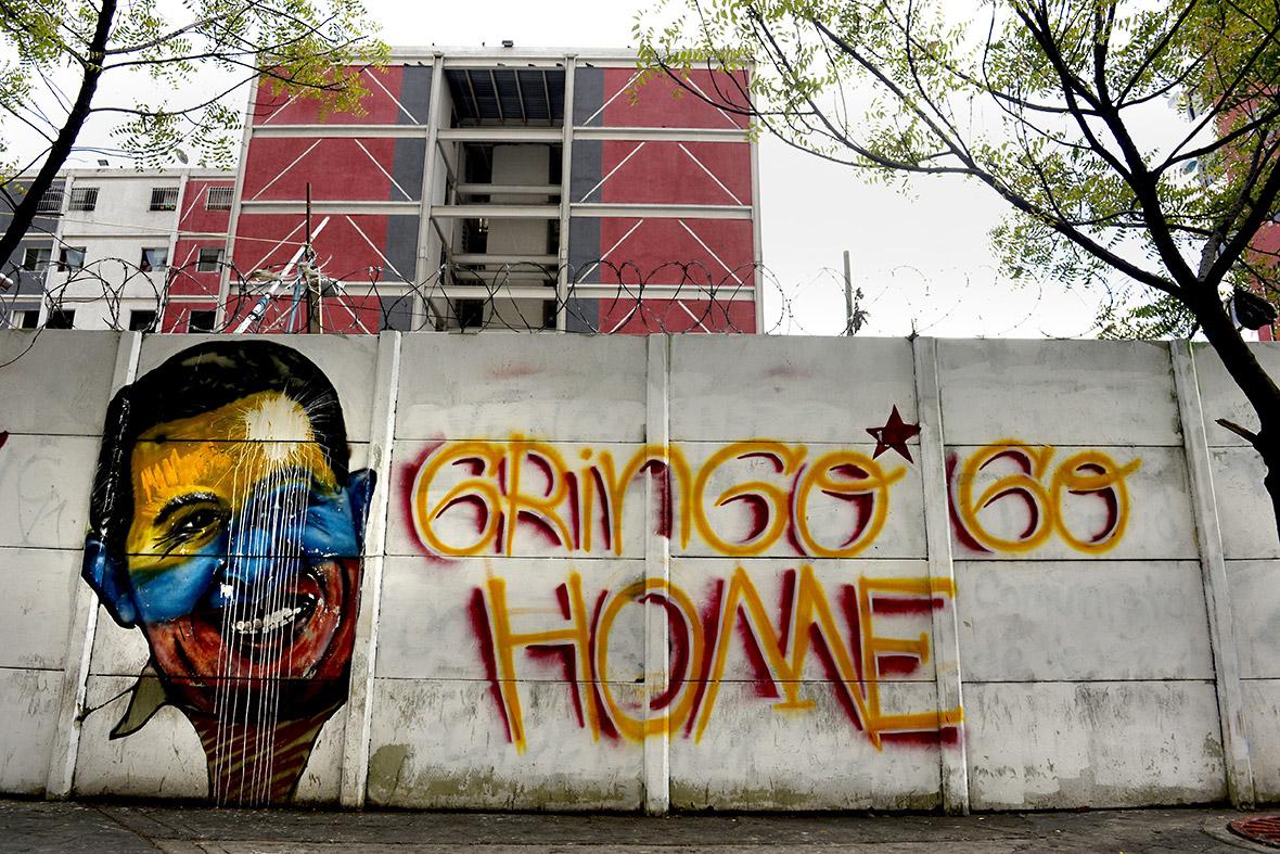 Anti-American Slogan in Caracas, Venezuela. Credit: IBTimes
