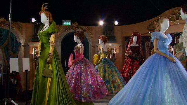 Character Design Course London : Disney unveils cinderella costume exhibition in london s