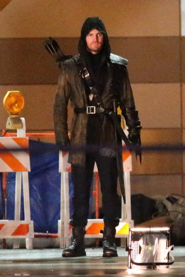 Arrow Leaked Leaked on Set Image of Arrow