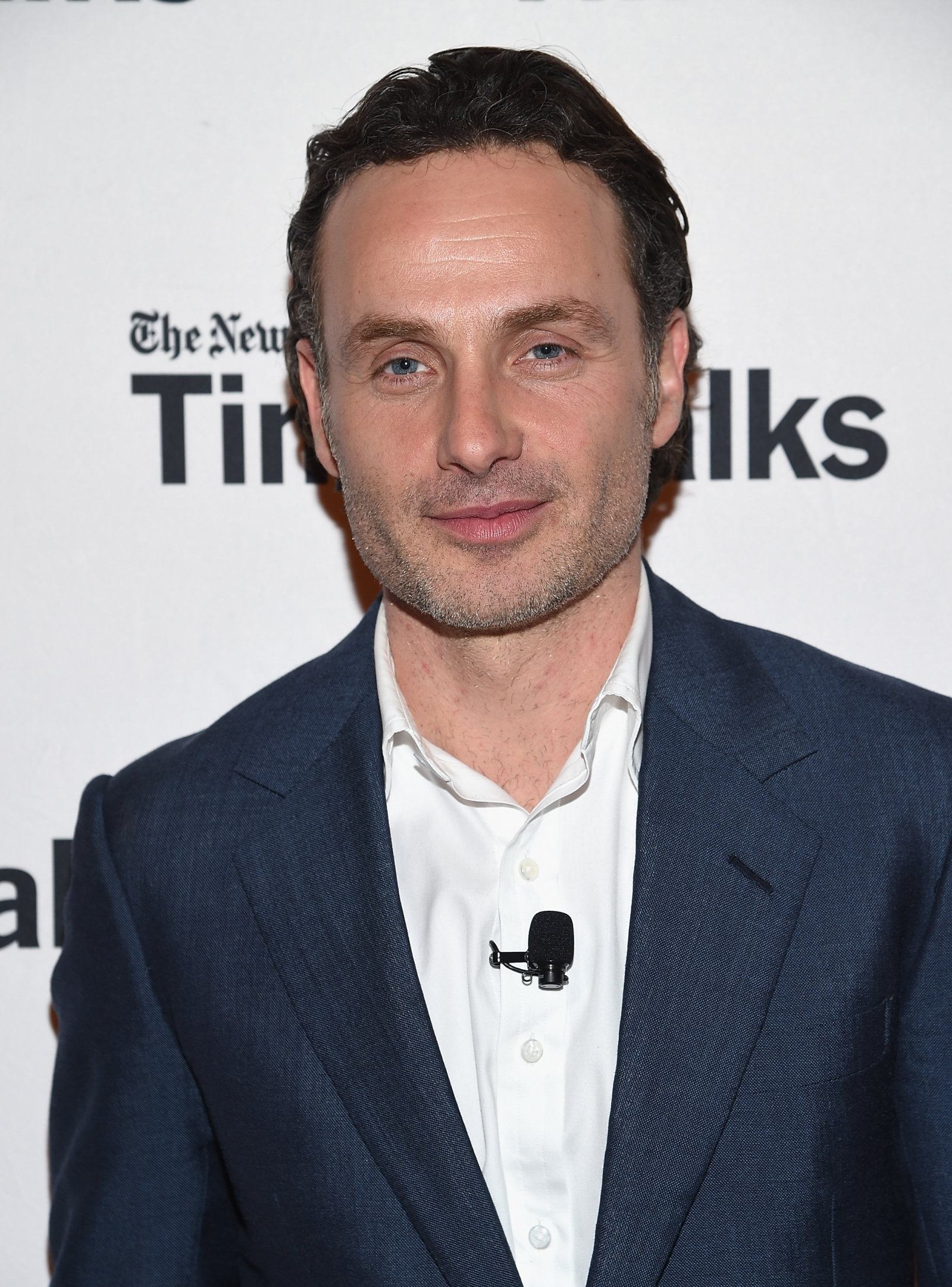 Andrew lincoln attends timestalks the walking dead at thetimescenter