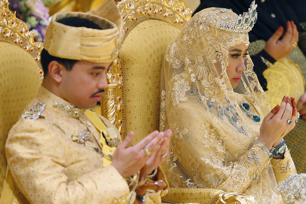 Brunei Royal Wedding And The Bride Wore Gold Diamonds