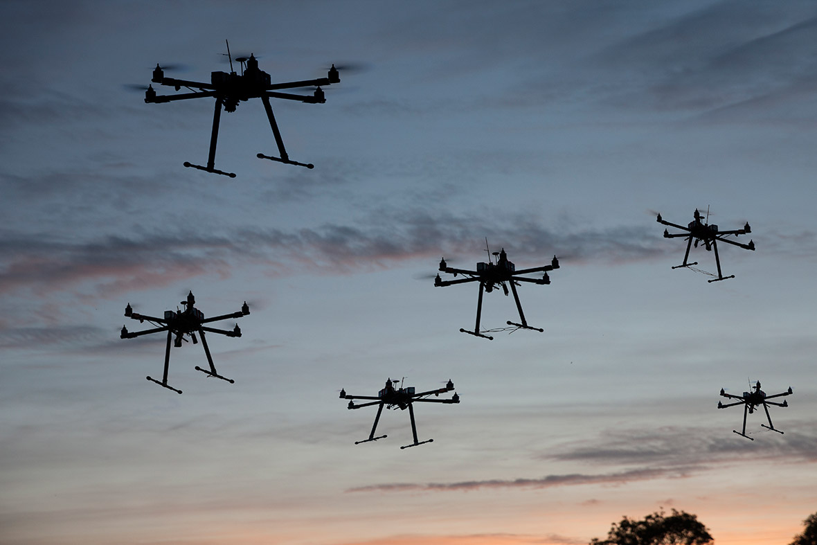 Google Robot Army And Military Drone Swarms UAVs May Replace People In The Theatre Of War