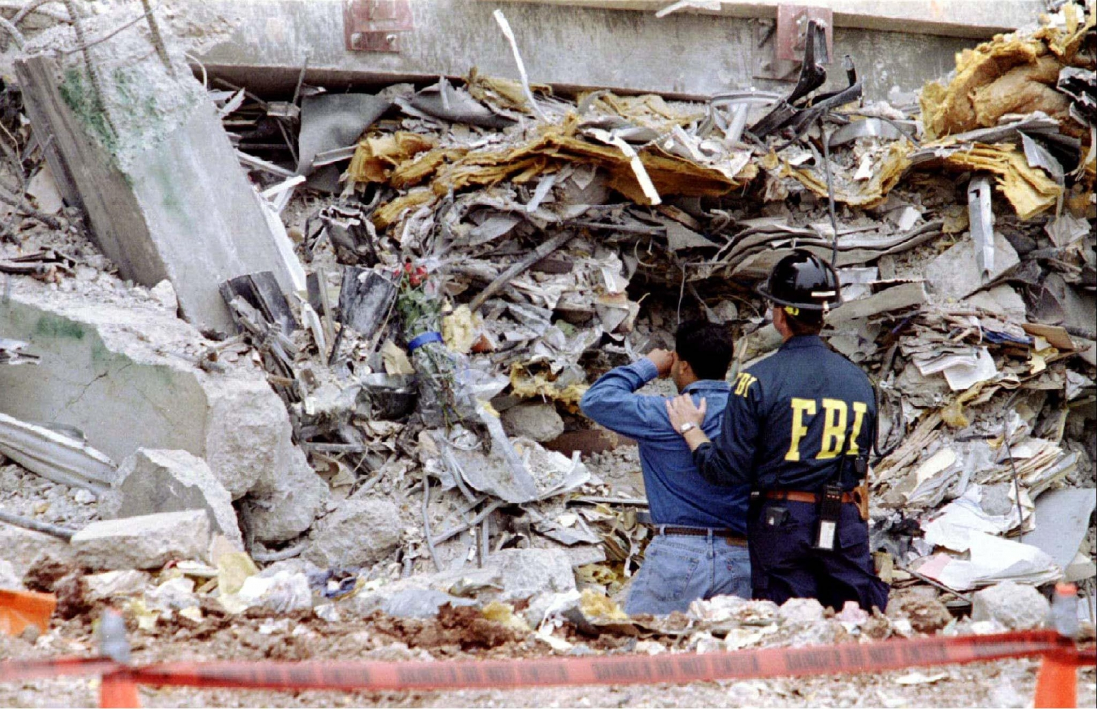 the oklahoma city bombing in april 19 1995 In this april 19, 1995 file photo, people injured in the car bomb blast at the alfred p murrah federal building in downtown oklahoma city, okla gather near the explosion site.