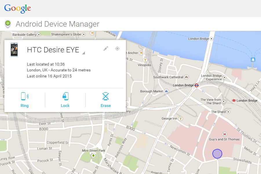 how to find my tablet with google