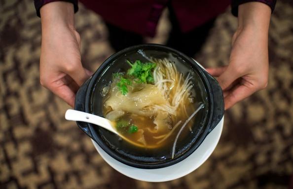 Shark fin soup...
