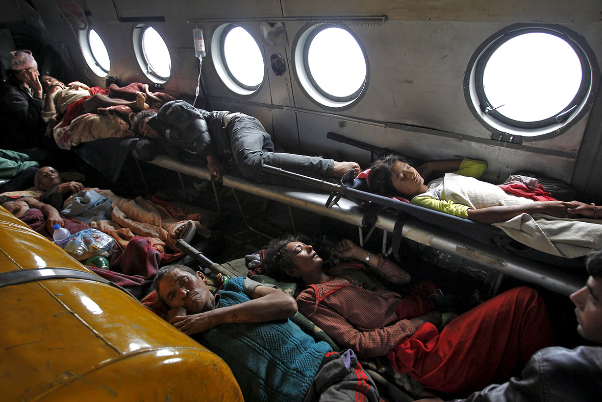 nepal earthquake aerial photos of remote gorkha district