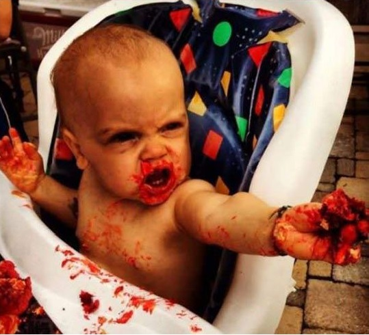 Images Baby Eating Birthday Cake : Human brain shaped birthday cake for toddler goes viral ...