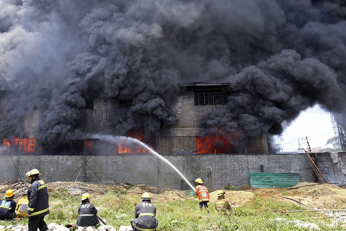 Philippines Footwear Factory Fire Bars On Windows Trapped