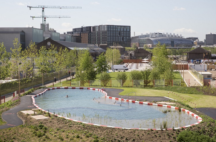 Uk 39 s first public swimming pond to be opened in king 39 s cross for Alderwood pool public swim times