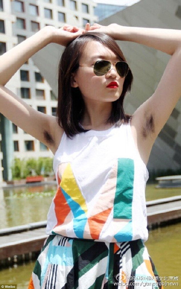 Chinese Women S Armpit Hair Selfie Contest Crowns Six Winners