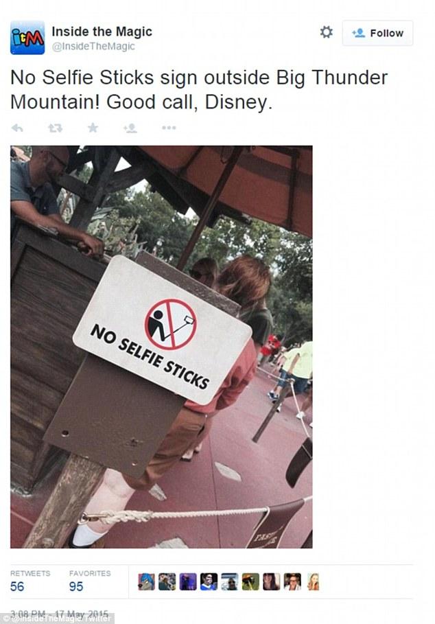 disney bans selfie sticks at all theme parks around the world. Black Bedroom Furniture Sets. Home Design Ideas