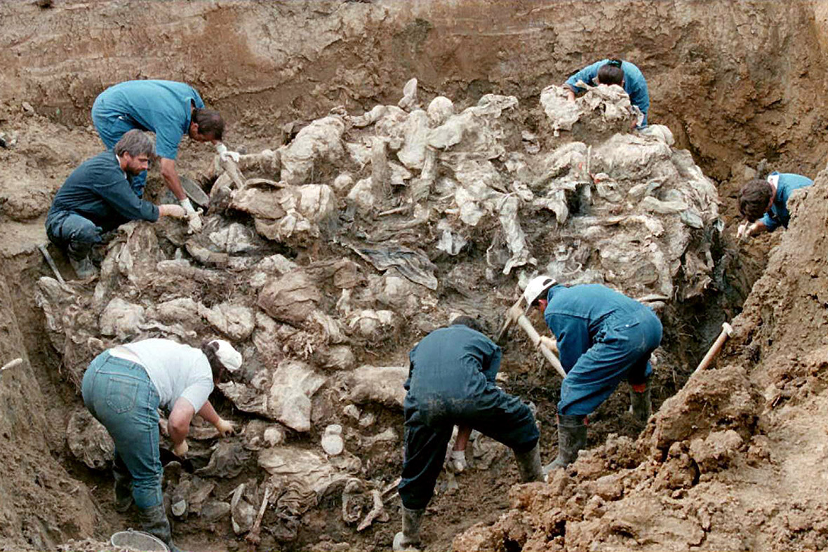 ... the area outside Srebrenica.They were shot and buried in mass graves