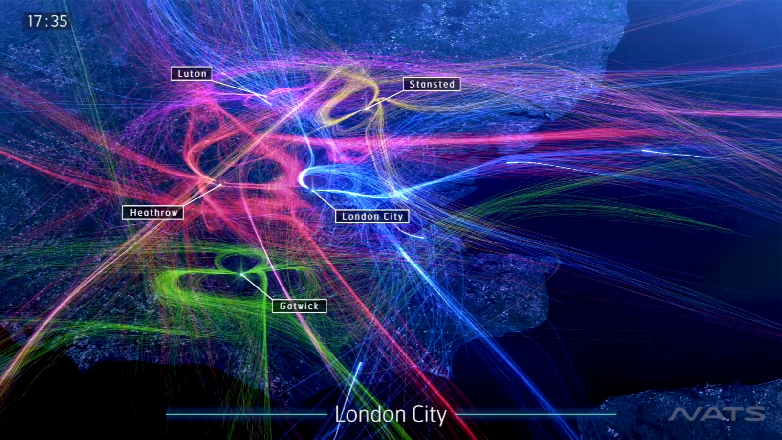 london airports amazing animation shows over 3000