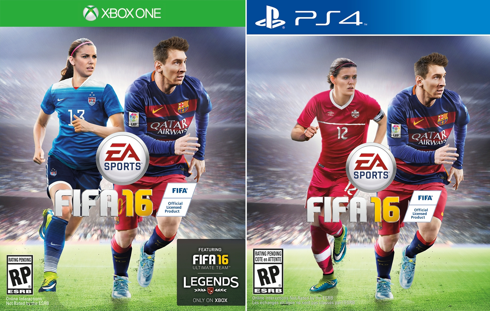 fifa 16 cover revealed women football stars to feature. Black Bedroom Furniture Sets. Home Design Ideas