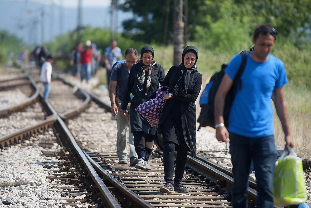 Migrants Hungary EU fence