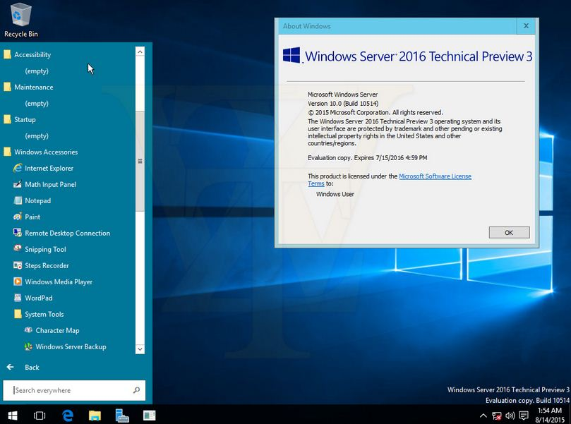 Windows server 2016 release dates