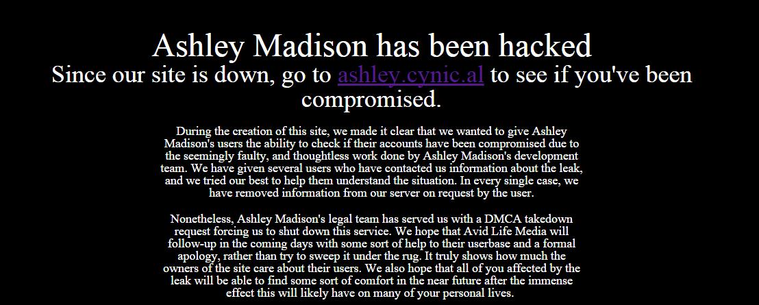 search ashley madison database hack leak