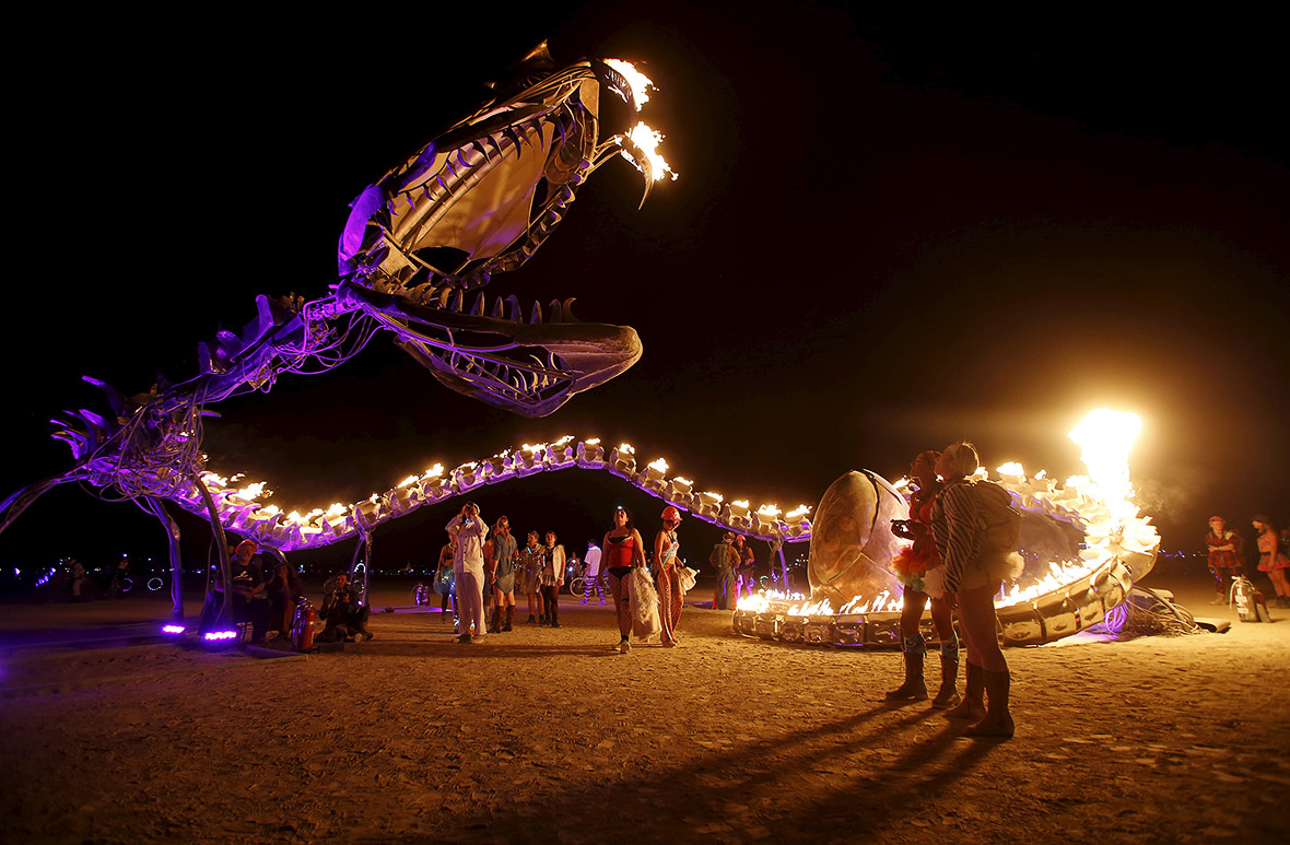 pictures of annual festival in Nevada's Black Rock Desert
