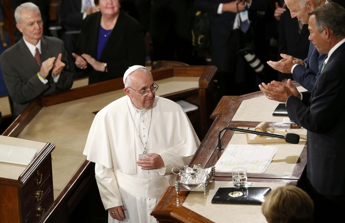 the speech of pope francis towards the american congress That's what the room was like on thursday as pope francis addressed congress—the first time a after the pope concluded his speech at the atlantic.
