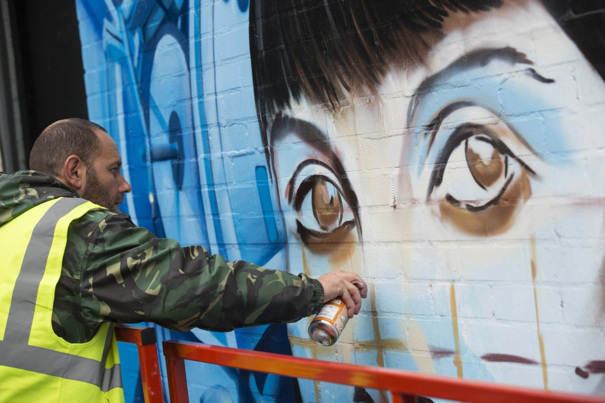 UK's largest ever street art project launched to promote country's creative industries