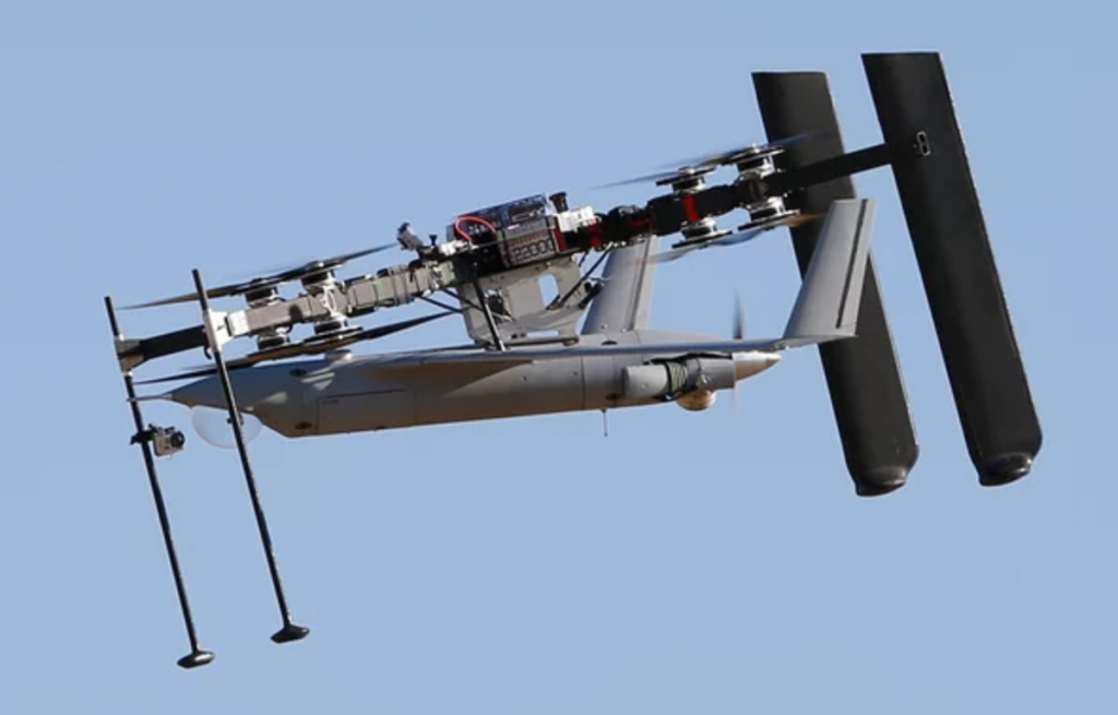 ScanEagle Quadcopter Drone System Launches Military UAV Into The Sky And Then Catches It