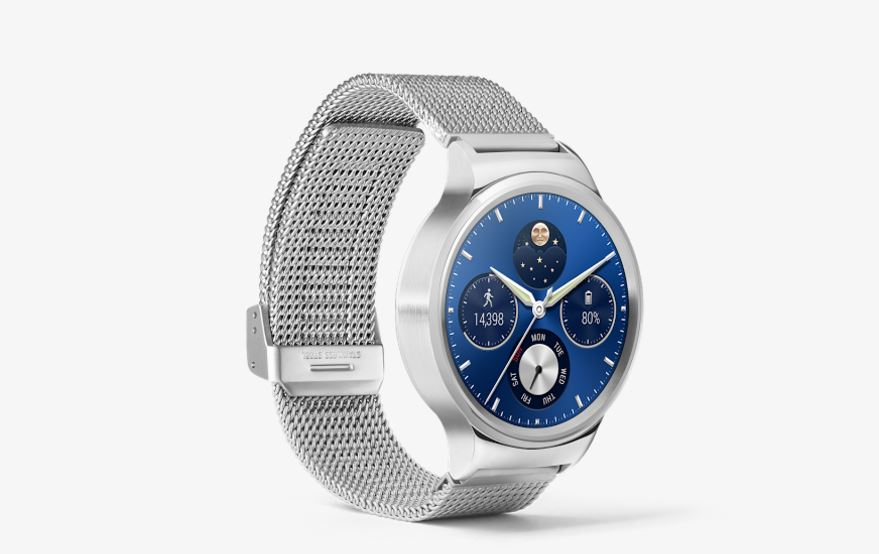 Image result for Huawei W1 Watch Strap Silver Stainless Steel Mesh