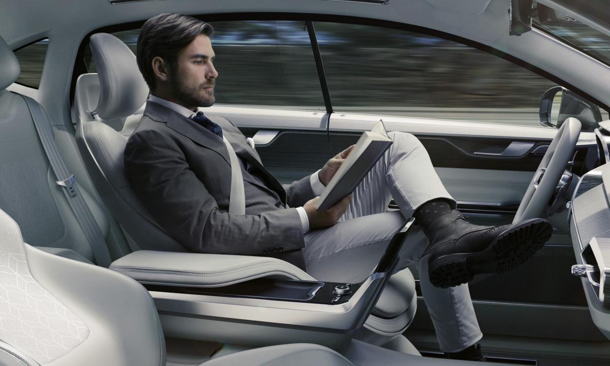 read while you drive volvo concept 26 is the autonomous car interior of the future. Black Bedroom Furniture Sets. Home Design Ideas