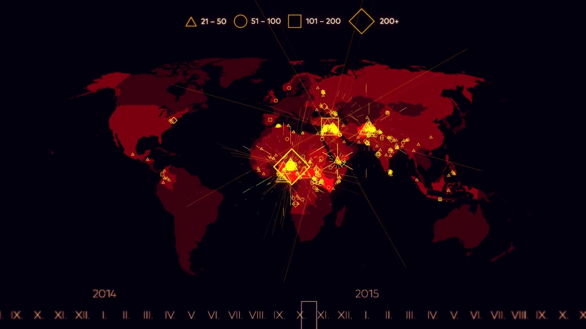 From To Paris Attacks Timelapse Map Shows Every Major - Map of 98 us designated terrorist groups location