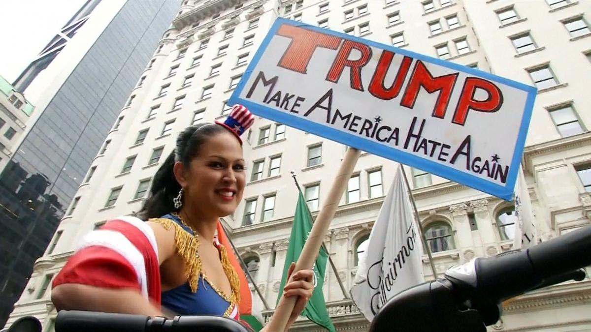 Donald Trump Muslim comments: Protesters denounce Republican candidate ...