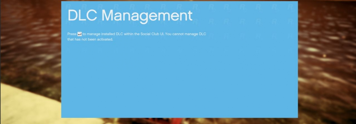 GTA 5 DLC management menu