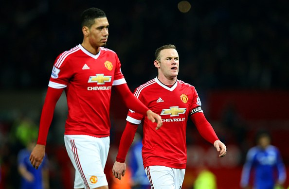 Wayne Rooney Chelsea Wayne Rooney and Chris Smalling react as the former leaves the pitch