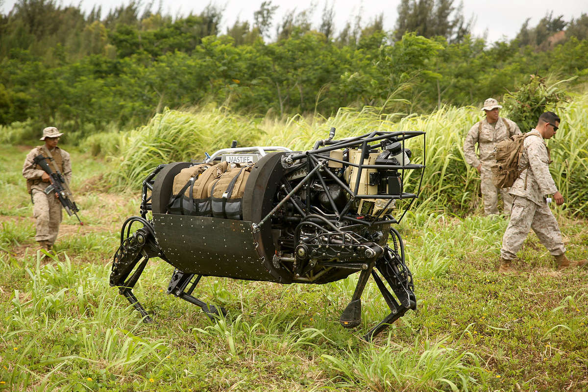 darpa robots military