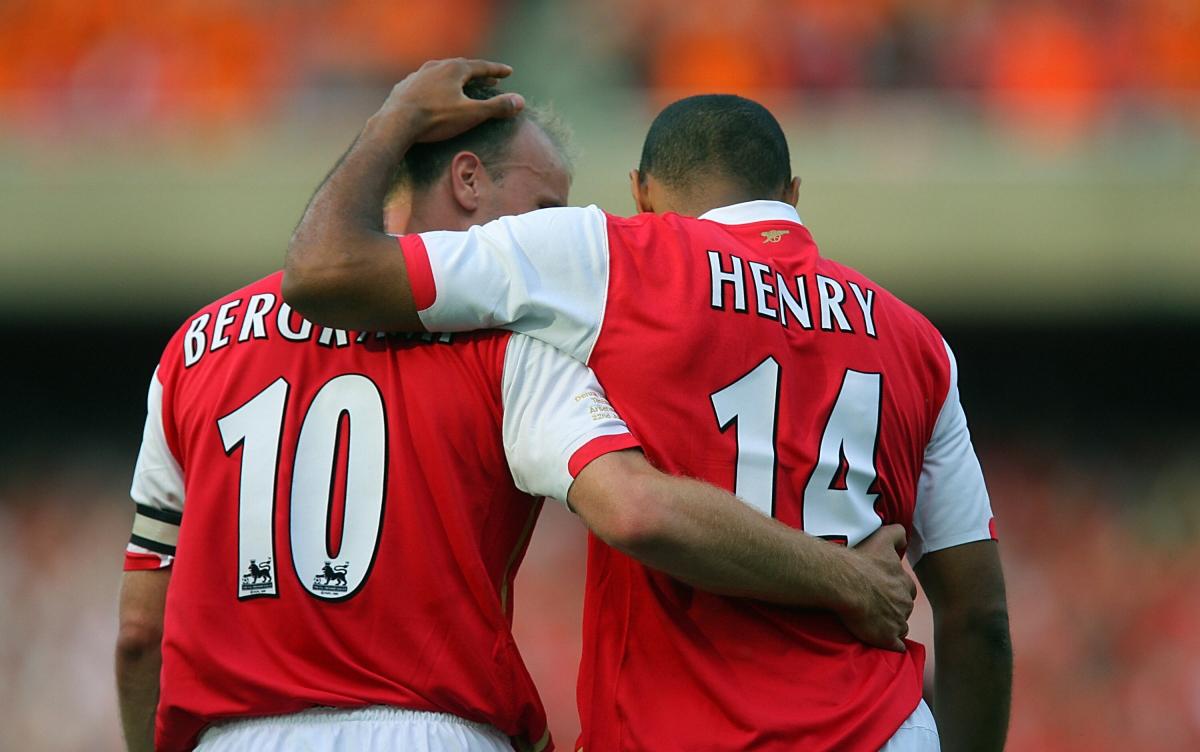 Bergkamp Thierry Dennis calls legend  Arsenal his Henry