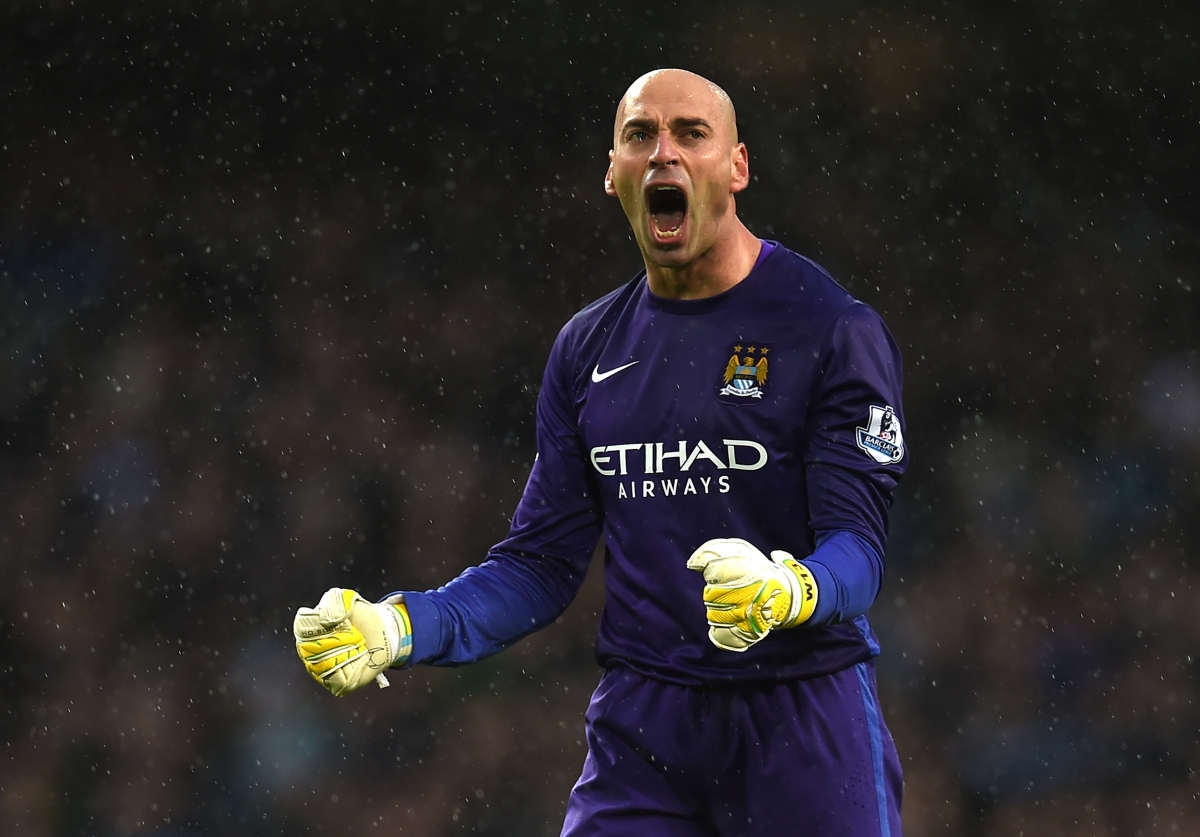 willy caballero to replace joe hart for manchester city s