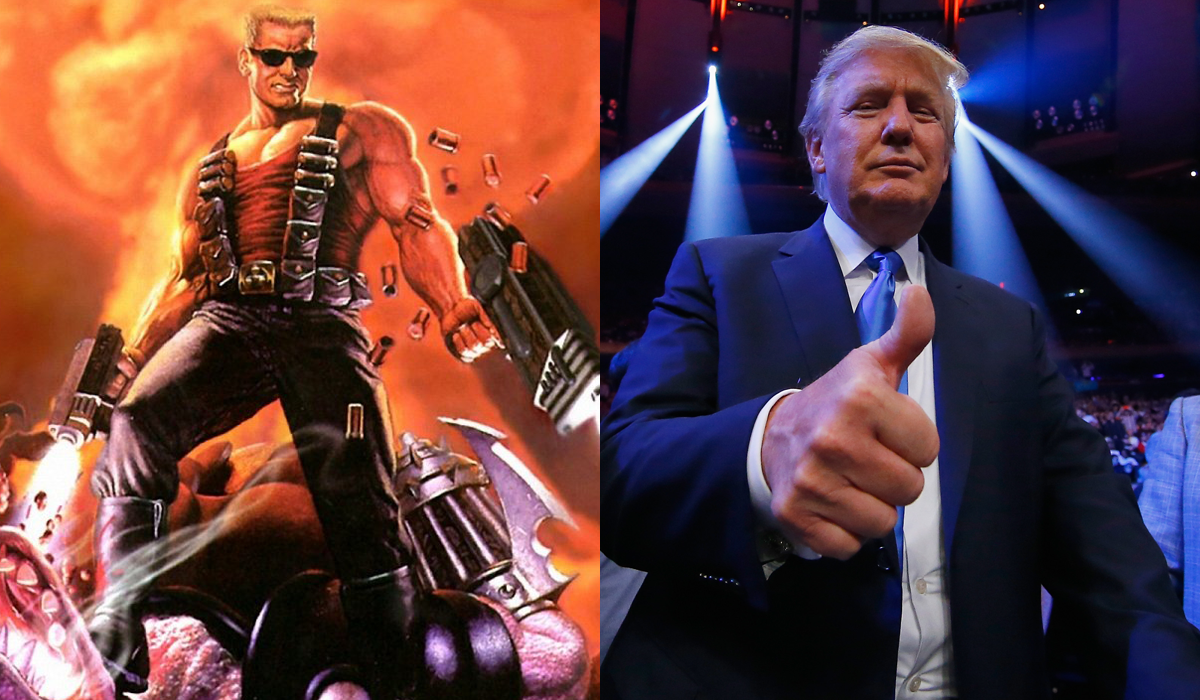 Did Donald Trump try to hire the voice of Duke Nukem for a political ...