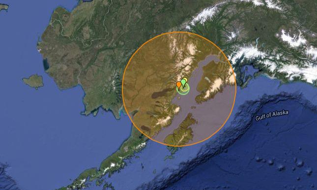 Major Earthquake Strikes Off Alaskan Coast - Google maps alaska