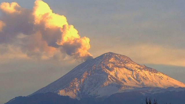 Popocatepetl volcano eruption December 8, 2018 Popocatepetl-volcano