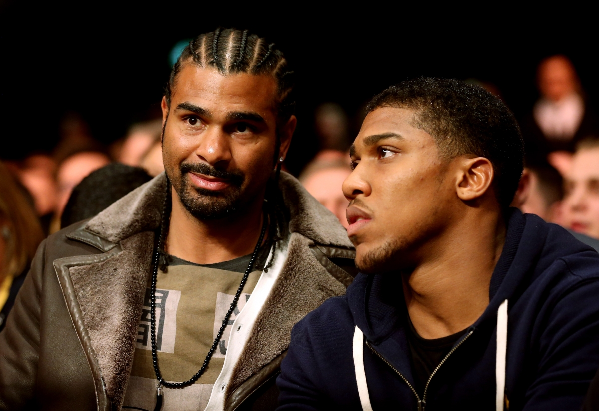 David Haye (left) and Anthony Joshua