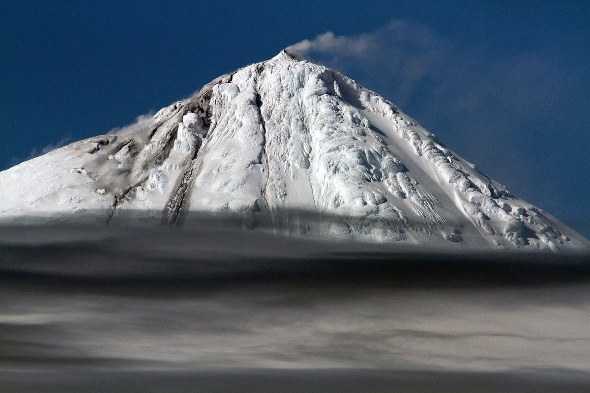 One of Australia's two active volcanoes blows its top