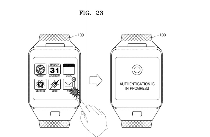 Samsung patent for smartwatch