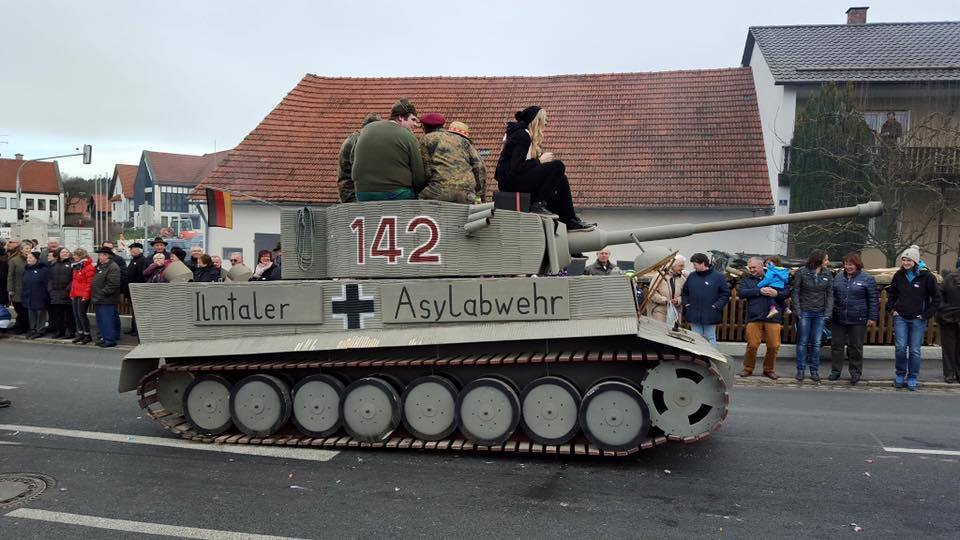 The tank marked with Balkenkreutz
