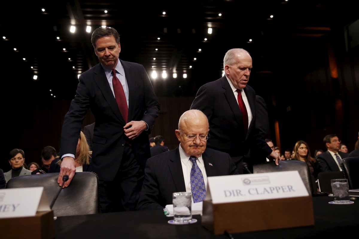 James Comey, James Clapper & John Brennan