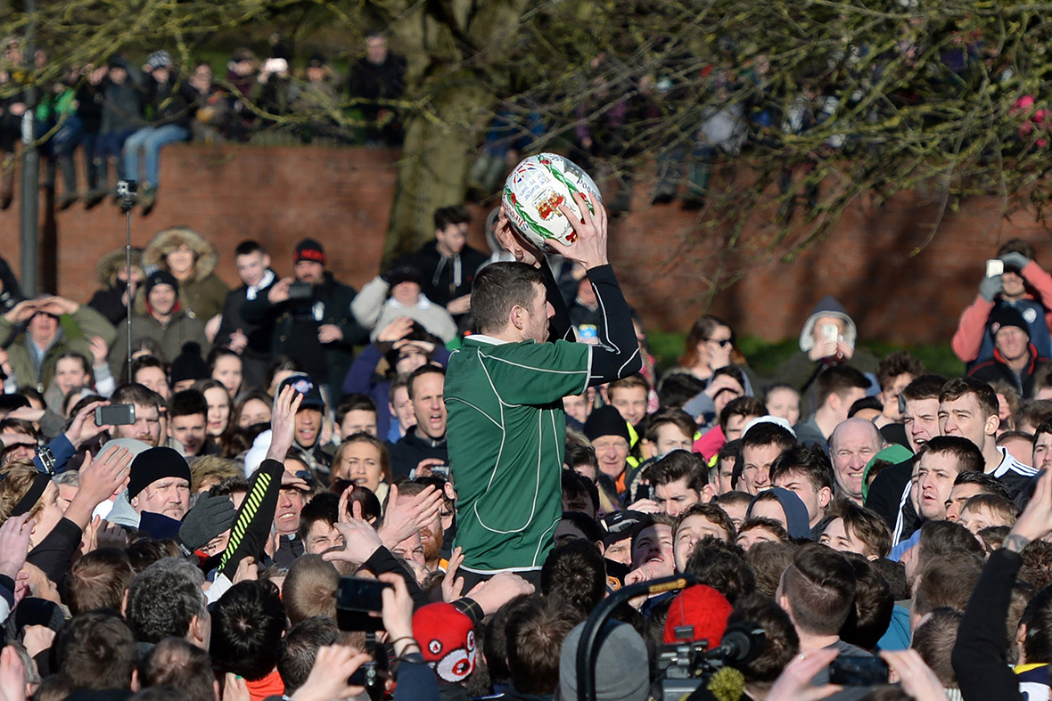 Royal Shrovetide Football Match: 'mob football' game one of the bloodiest sporting customs in UK