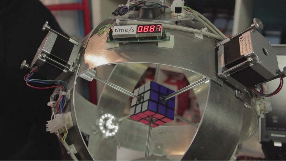 Sub1: Robot solves Rubik's Cube in world record time of 0.887 seconds