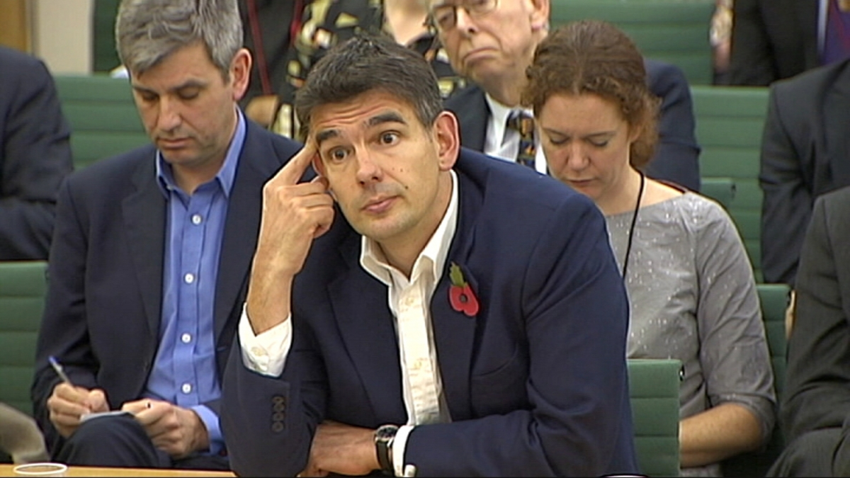Google UK boss Matt Brittin admits he is unaware of his own salary