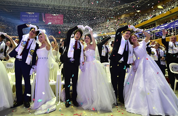 unification church mass wedding: