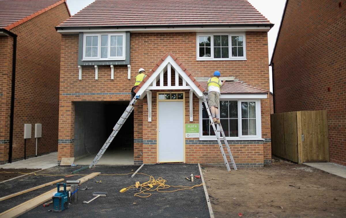 House building in england hits seven year high but for New home cost